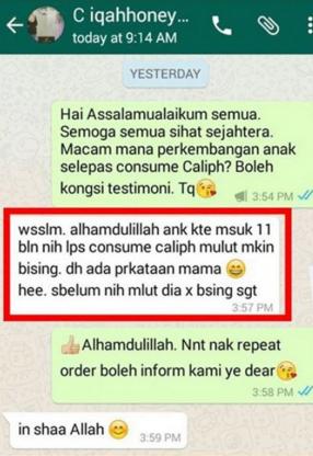 caliph jus minda price