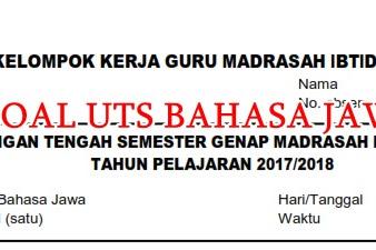 Soal UTS Bahasa Jawa Komplit kelas 1-6 Semester 2 SD/MI Tahun Ajaran 2017/2018