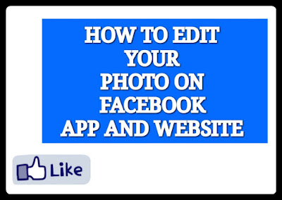 how to edit photo on facebook