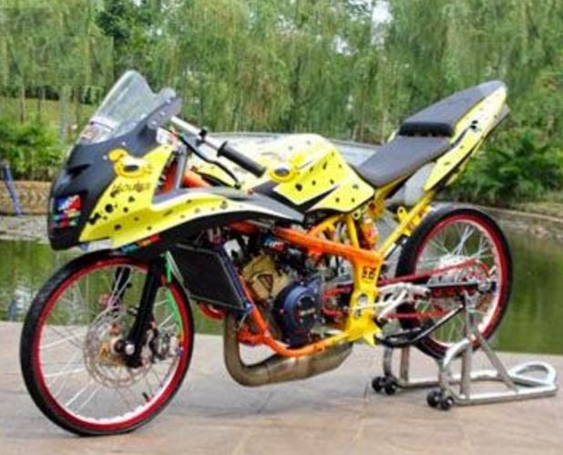 gambar foto modifikasi ninja r-55 terbaru tahun 2017