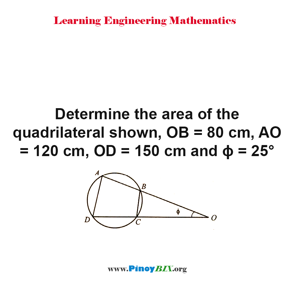 Determine the area of the quadrilateral