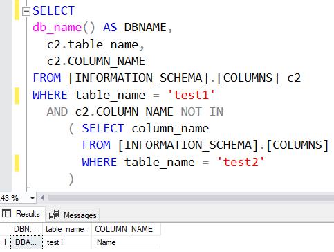 Compare Columns Two Tables SQL Server 3
