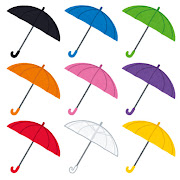 いろいろな傘のイラスト
