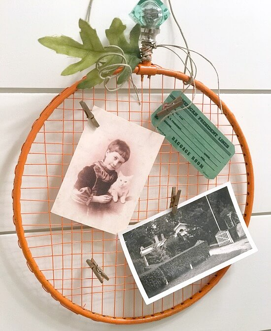 Badminton Racket Pumpkin Photo Display