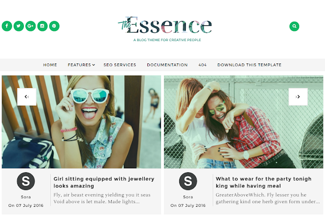 The Essence mobile friendly blogger template free download