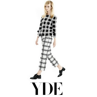 Princess Mary OLE YDE Checkered Peplum Jacket