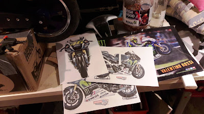 стикери Валентино Роси Decals The doctor vr46