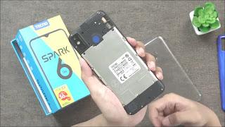 Slot SIM Card dan Memory Tecno Spark 6 Go