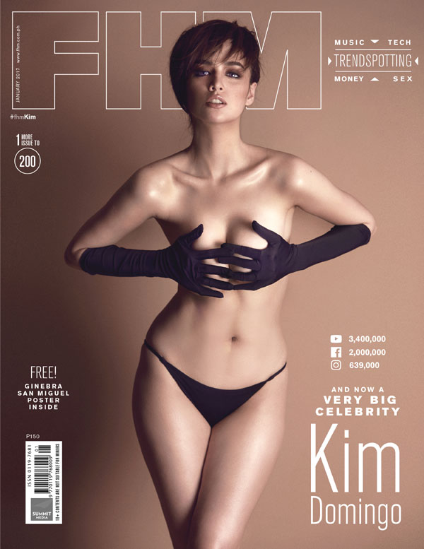 Kim Domingo on the cover of FHM January 2017