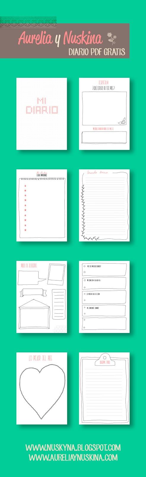 Diario personal imprimibles gratis