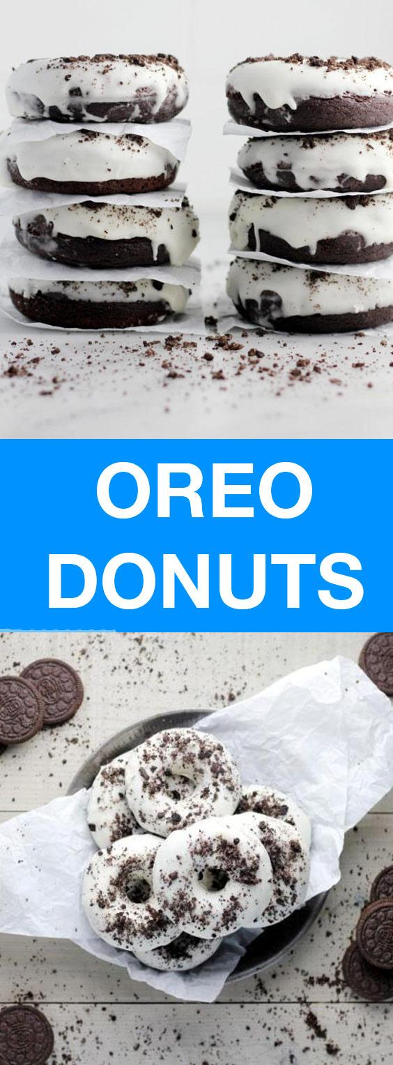 Baked Oreo Donuts
