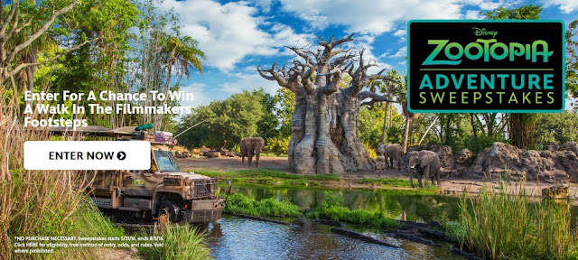 Disney wants you to enter once for the chance to win a Walt Disney World Resort Vacation complete with a Wild Africa Trek expedition at Disney's Animal Kingdom Theme Park or other great prizes!