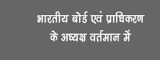 Board evam Pradhikaran adhyaksh vartman Me