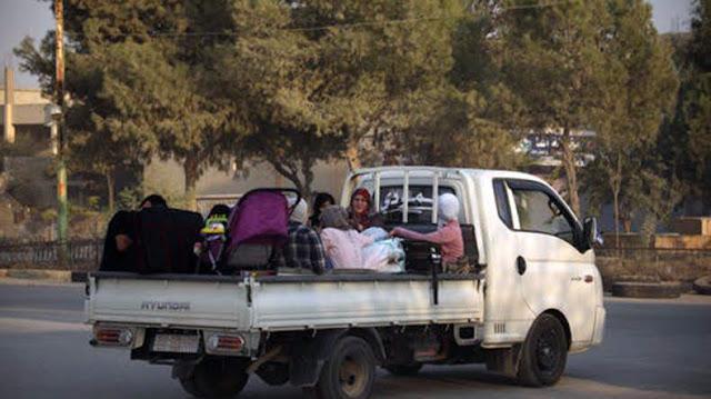 Familias armenias evacuadas de Tell Abyad a Aleppo