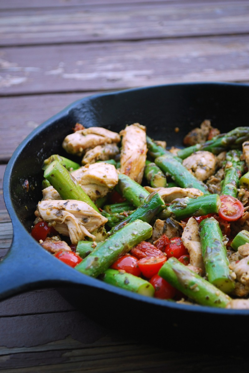 Healthy Chicken Pesto Recipe With Vegetables The