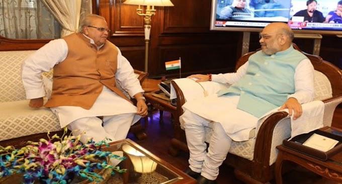 जम्मू कश्मीर में बरे बदलाव की तैयारी, अगला मुख्यमंत्री हो सकता है हिन्दू , राज्यपाल मिले अमित शाह से ।