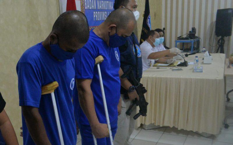 BNNP Lampung Tangkap dua kurir Narkoba Jaringan Aceh- Bandung,4 kg Sabu di sita