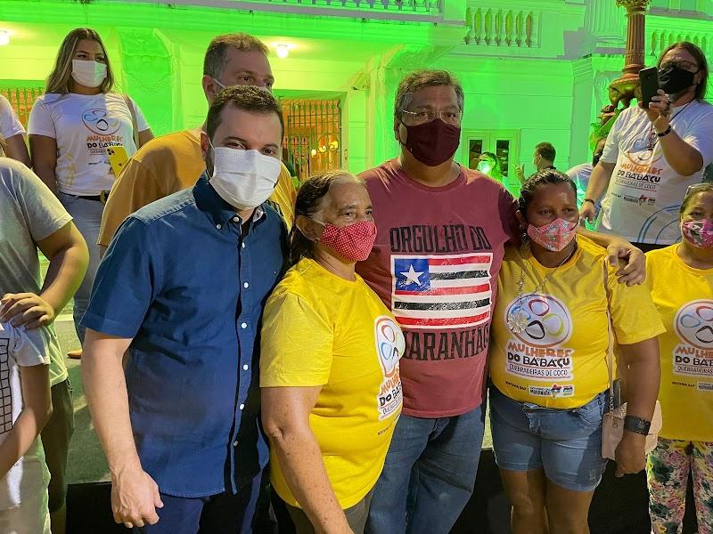 Deibson Balé representa prefeitos do Maranhão nas comemorações do Dia das Quebradeiras de Côco em São Luis.