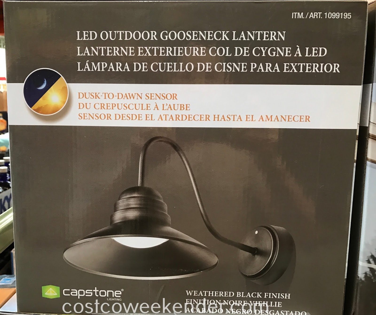 Costco 1099195 - Capstone LED Outdoor Gooseneck Lantern: great for any home's exterior