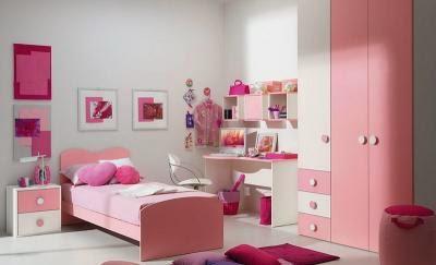 Cuarto de niña blanco y rosa