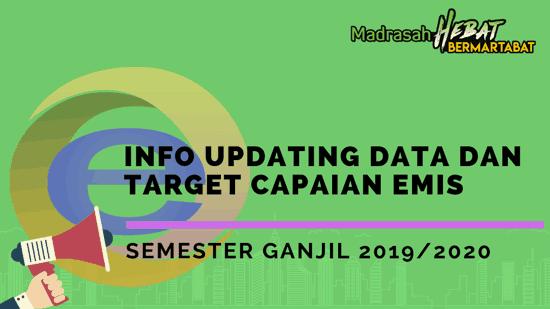 Info Updating Data dan Target Capaian EMIS Semester Ganjil 2019/2020