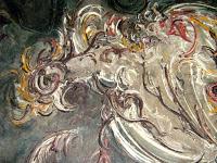 """Pelukis: Affandi Tahun: 1972 Judul : """" Ayam Petarung """" Ukuran : 110cm X 130cm Media : Oil on Canvas"""