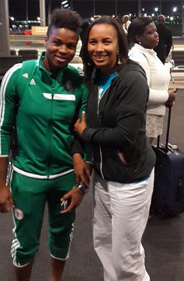 Ibinabo Pictured With Nigerias Super Falcons, Winners Of