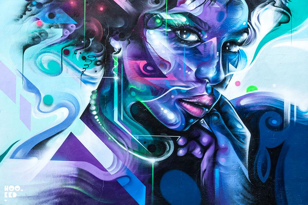 Brick Lane Street Art Mural by artist Mr Cenz. Photo ©Hookedblog / Mark Rigney