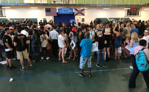 Empty Seats Galore: Andrew Gillum Holds Rally with Bernie Sanders – And Hardly Anyone Shows Up