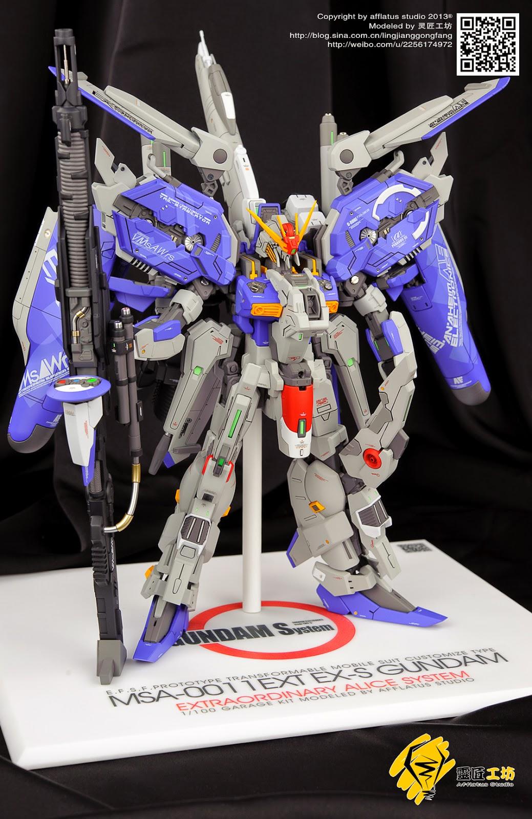 Painted Build Neo Grade 1 100 Ex S Gundam Alice System