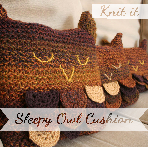 Knit yourself an Owl Cushion