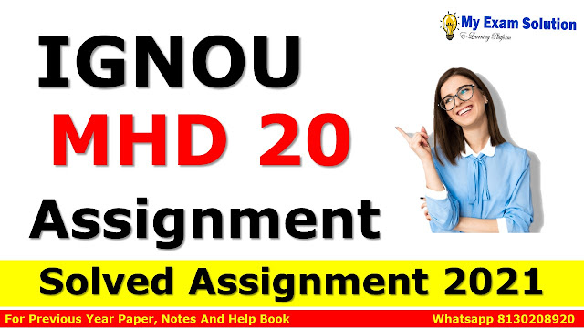 MHD 20 Solved Assignment 2021-22