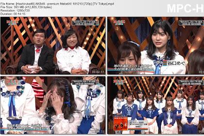 AKB48 - premium MelodiX! 181210 (TV Tokyo)