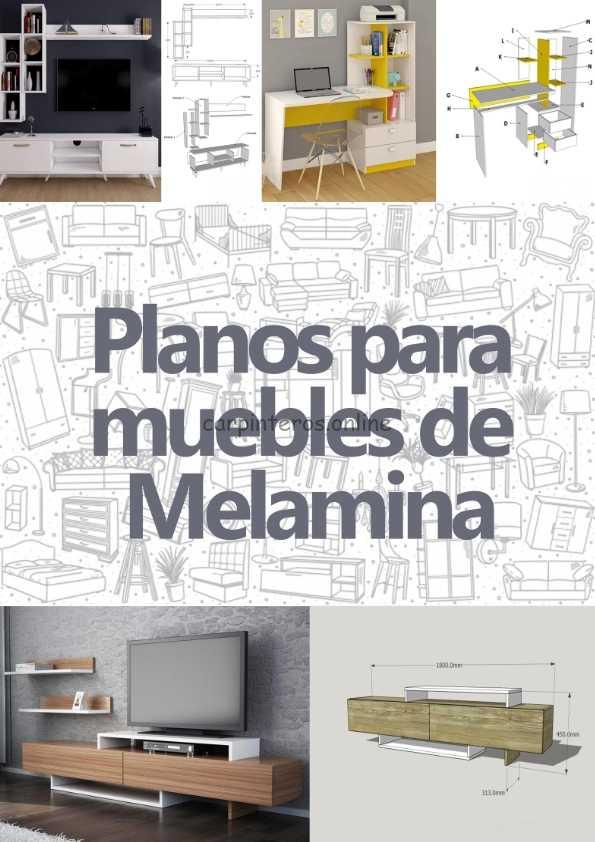 93 planos para construir muebles de melamina