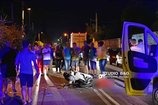 Σοβαρό τροχαίο ατύχημα στα Λευκάκια Ναυπλίου με δυο τραυματίες (βίντεο)