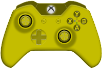 yellow xbox one controller