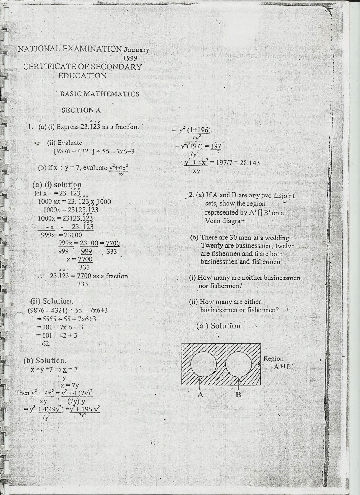 MWL JAPHET MASATU BLOG: Basic Mathematics O--Level Necta