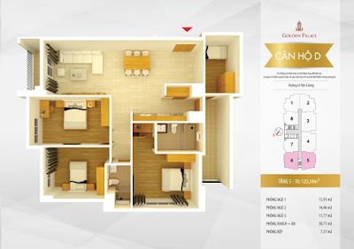 Mặt bằng thiết kế căn hộ số 5-6