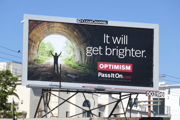 It will get brighter Optimism billboard