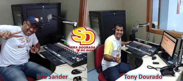 Locutores da Rádio Serra Dourada FM de Rio Quente GO