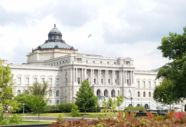 library of congress - complete building - green cupula