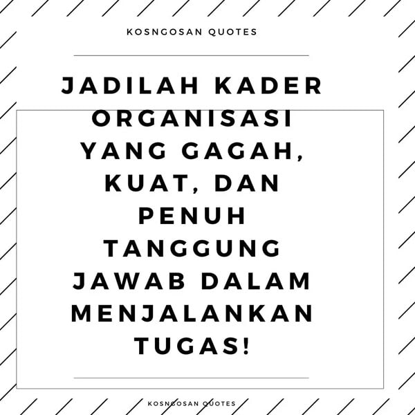 kata motivasi organisasi