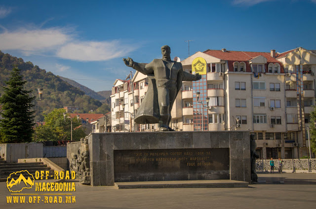 Goce Delchev monument - Strumica city square - Macedonia