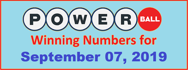 PowerBall Winning Numbers for Saturday, September 07, 2019
