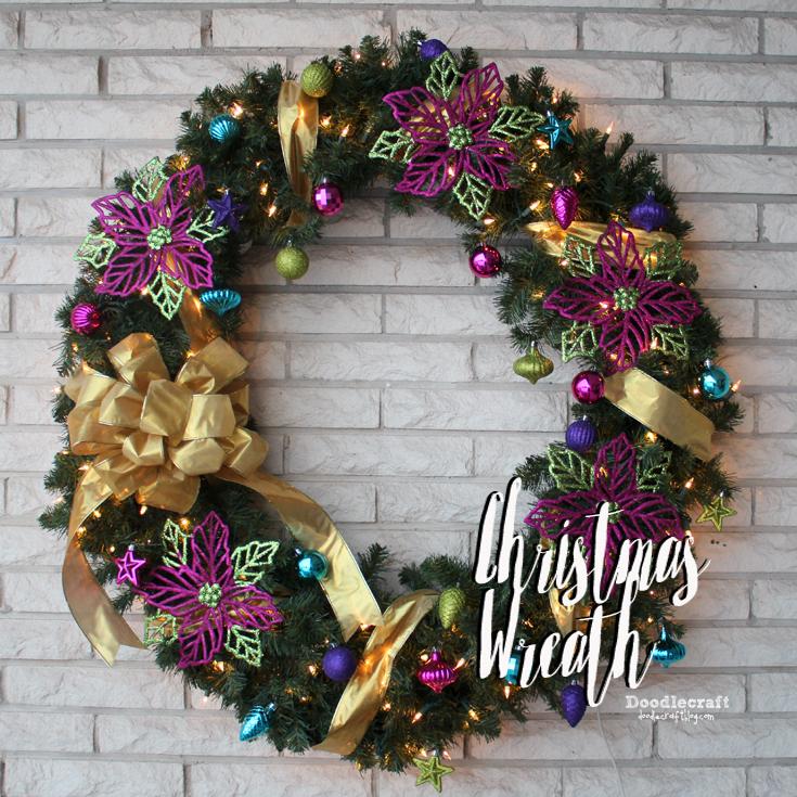 Sparkly Ornament Christmas Wreath