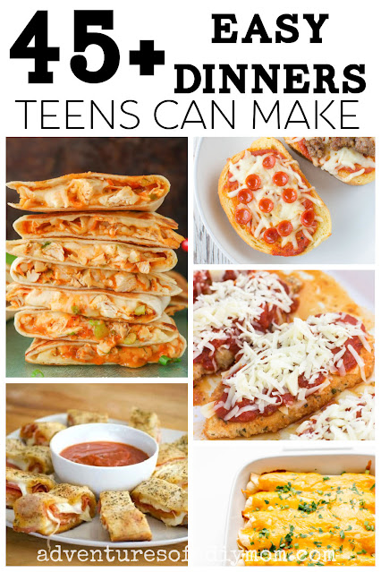collage of dinner ideas that are easy to make
