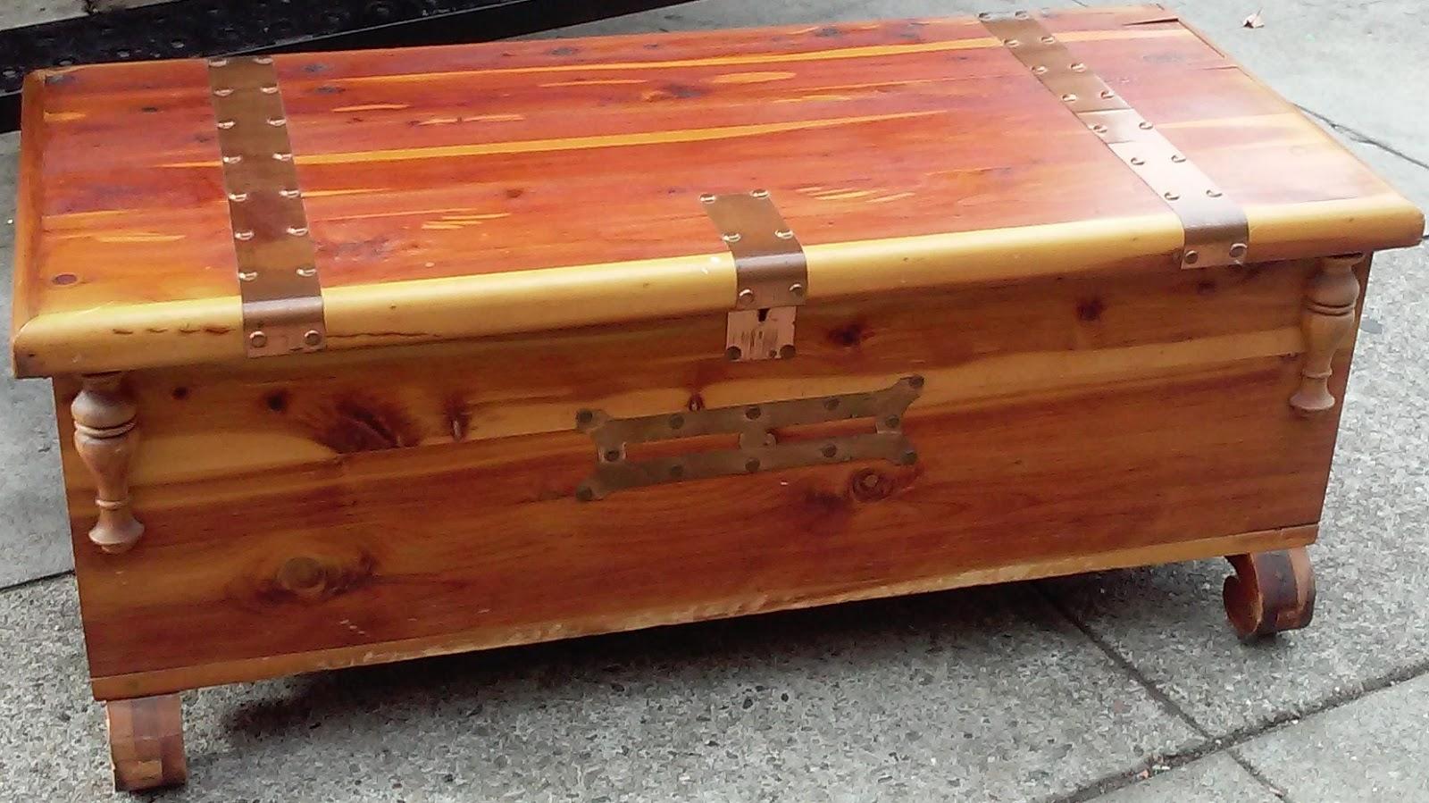 Uhuru Furniture Collectibles Sold Solid Cedar Chest 65