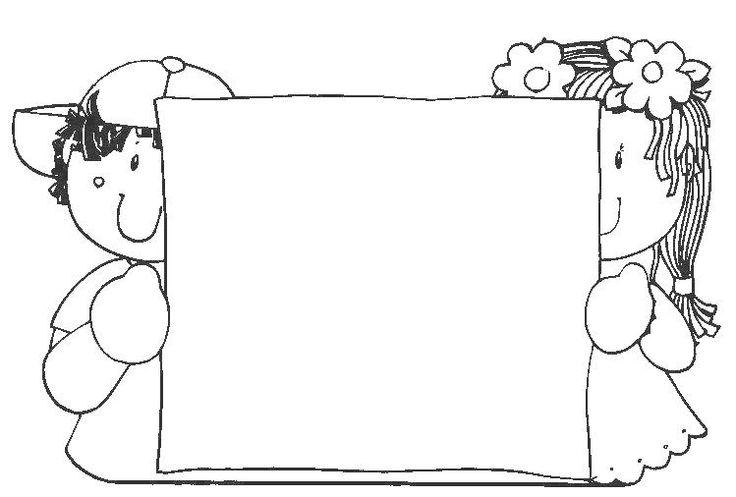 Dibujos Infantiles Escolares Para Colorear: Fichas De Primaria: Bordes Infantiles Para Colorear