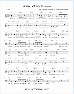 chord a kiss to build a dream on lagu jazz standar
