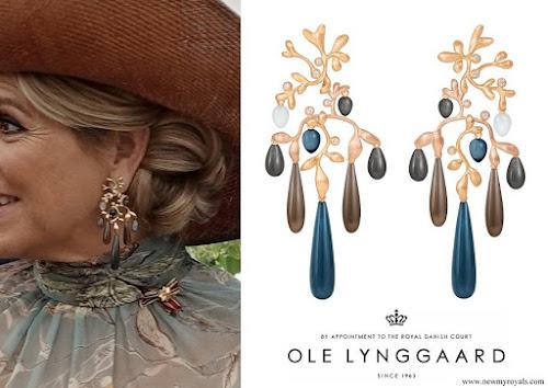 Queen Maxima wore OLE LYNGGAARD Gipsy earrings